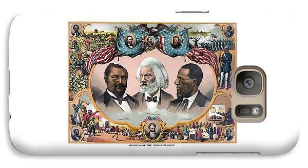 Abraham Lincoln Galaxy S7 Case - Heroes Of The Colored Race  by War Is Hell Store