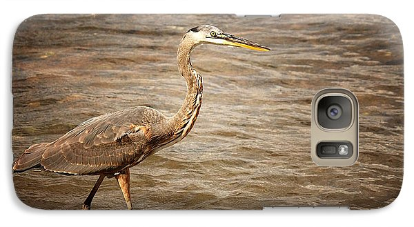 Galaxy Case featuring the photograph Heron At The Lake by Greg Simmons