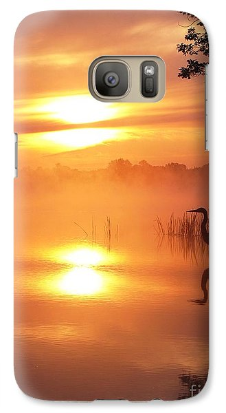 Galaxy Case featuring the photograph Heron Collection 2 by Melissa Stoudt