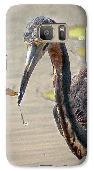 Galaxy Case featuring the photograph Heron Fishing by Allen Biedrzycki