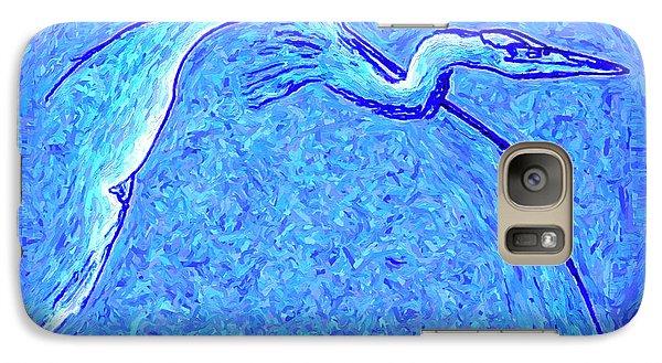 Galaxy Case featuring the photograph Heron In Flight by Walt Foegelle