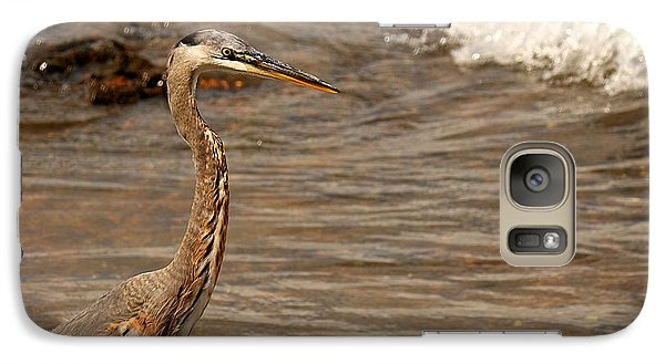 Galaxy Case featuring the photograph Heron Supper by Greg Simmons