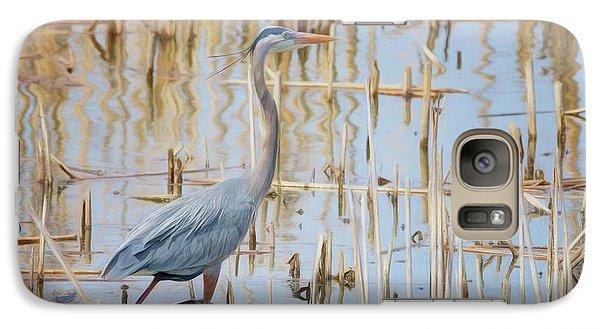 Galaxy Case featuring the photograph Heron - Wetlands  by Nikolyn McDonald