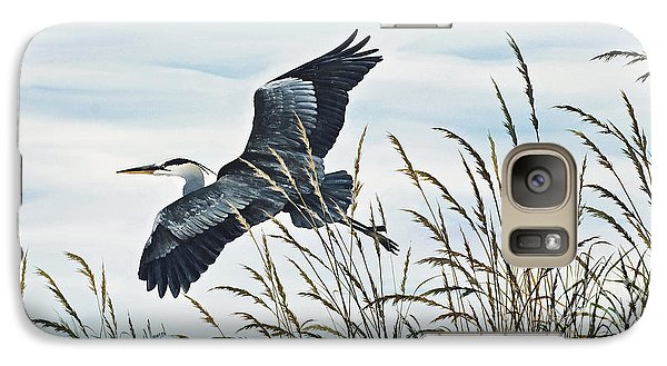 Herons Flight Galaxy S7 Case by James Williamson