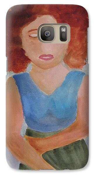 Galaxy Case featuring the painting Herself by Sandy McIntire