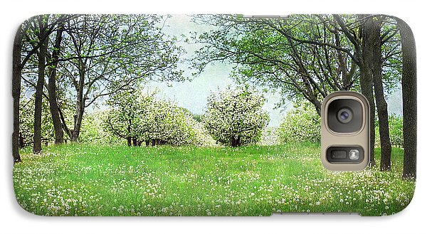 Galaxy Case featuring the photograph He's In The Orchard by Kathi Mirto