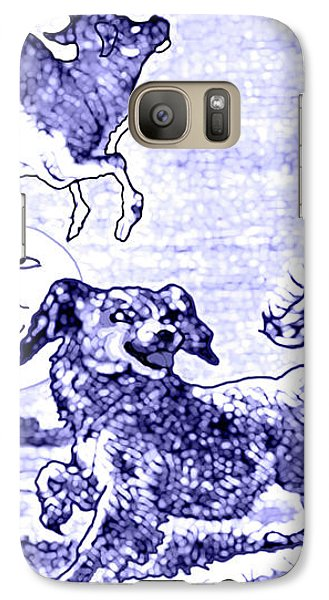 Galaxy Case featuring the painting Hey Diddle Diddle The Cat And The Fiddle Nursery Rhyme by Marian Cates