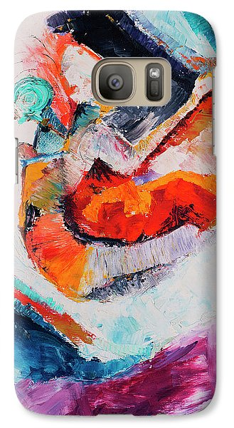Galaxy Case featuring the painting Hey Mr. Spaceman by Stephen Anderson