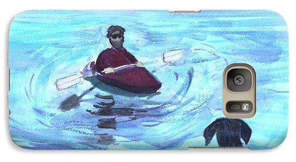Galaxy Case featuring the painting Hey Where You Going  by Donna Walsh