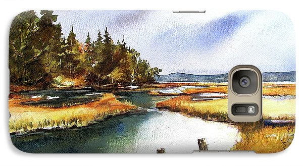 Galaxy Case featuring the painting Heyer Pt   Vashon Wa by Marti Green