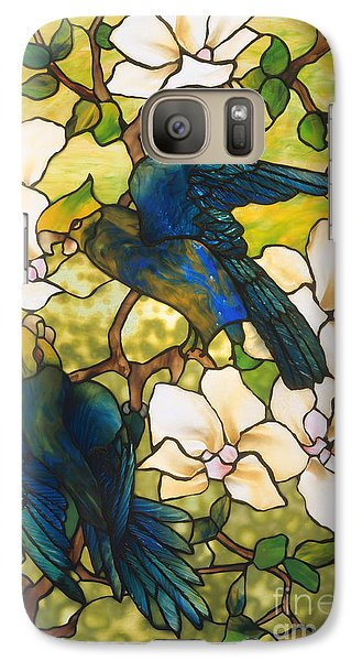 Hibiscus And Parrots Galaxy S7 Case by Louis Comfort Tiffany