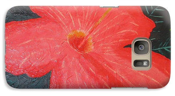 Galaxy Case featuring the painting Hibiscus by Barbara Yearty