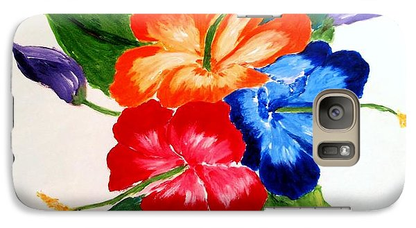 Galaxy Case featuring the painting Hibiscus by Jamie Frier