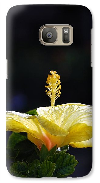 Galaxy Case featuring the photograph Hibiscus Morning by Debbie Karnes