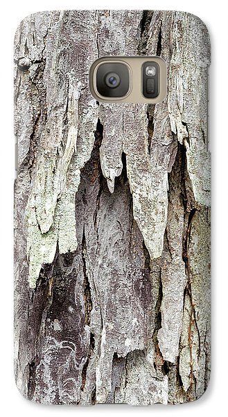 Galaxy Case featuring the photograph Hickory Tree Bark Abstract by Christina Rollo