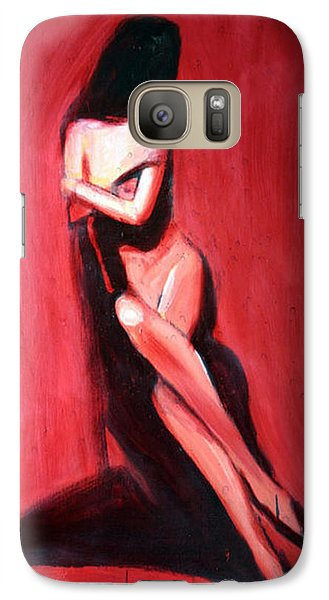 Galaxy Case featuring the painting Hidden Heart by Jarmo Korhonen aka Jarko