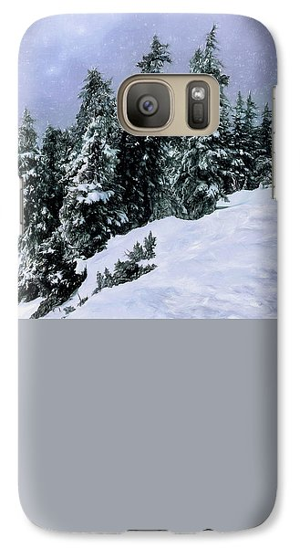 Galaxy Case featuring the photograph Hidden Peak by Jim Hill