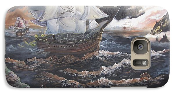 Galaxy Case featuring the painting Hidden Skull Cove by Kevin F Heuman