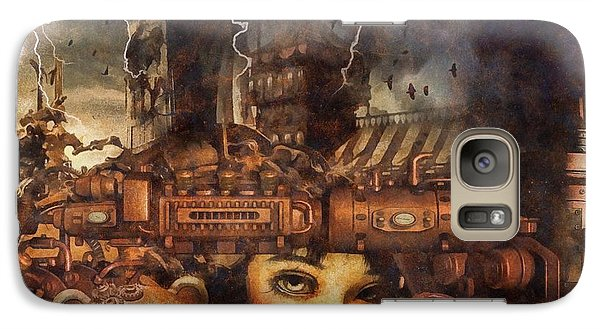 Galaxy Case featuring the drawing Hide And Seek by Mo T