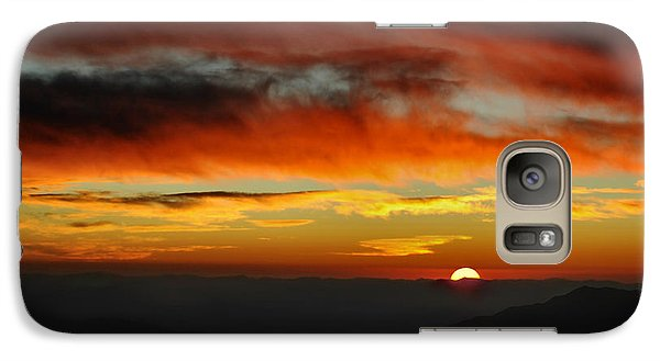 Galaxy Case featuring the photograph High Altitude Fiery Sunset by Joe Bonita