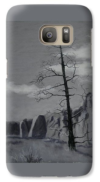 Galaxy Case featuring the painting High Desert Skeleton by Nancy Jolley