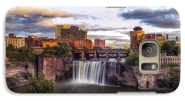 Galaxy Case featuring the photograph High Falls Crop by Mark Papke