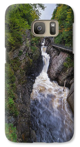 Galaxy Case featuring the photograph High Falls Gorge Adirondacks by Mark Papke