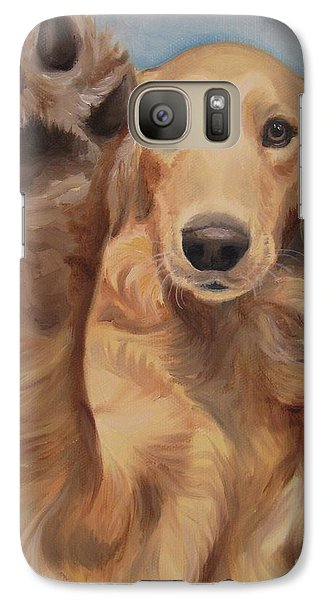 Galaxy Case featuring the painting High Five by Jindra Noewi