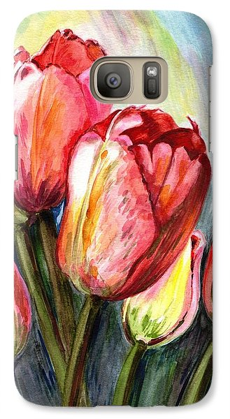 Galaxy Case featuring the painting High In The Sky by Harsh Malik