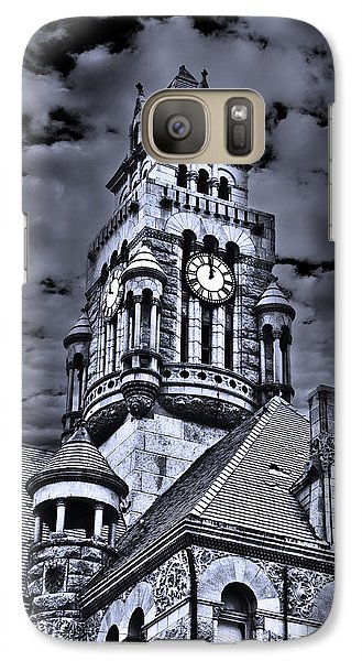 Galaxy Case featuring the photograph High Noon Black And White by Tamyra Ayles