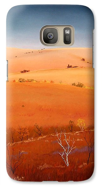 Galaxy Case featuring the painting High Plains Hills by William Renzulli