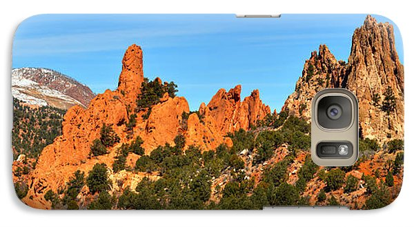 Galaxy Case featuring the photograph High Point Panorama At Garden Of The Gods by Adam Jewell