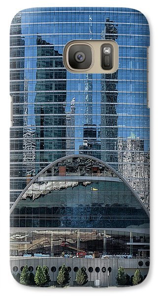 Galaxy Case featuring the photograph High Rise Reflections by Alan Toepfer