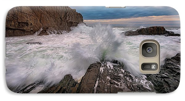 Galaxy Case featuring the photograph High Tide At Bald Head Cliff by Rick Berk