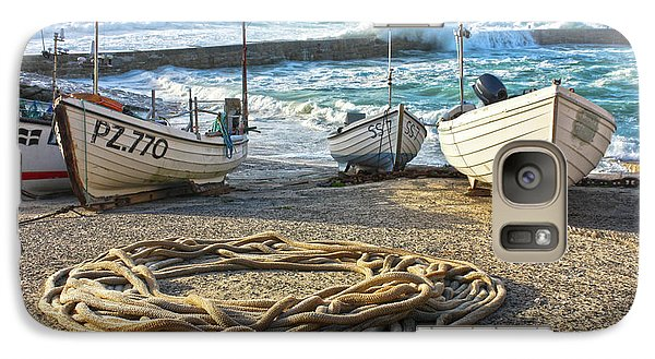 Galaxy Case featuring the photograph High Tide In Sennen Cove Cornwall by Terri Waters