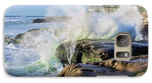 Galaxy Case featuring the photograph High Tide On The Rocks by Eddie Yerkish