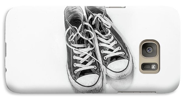 Galaxy Case featuring the digital art High Tops In Snow Black And White by Randy Steele