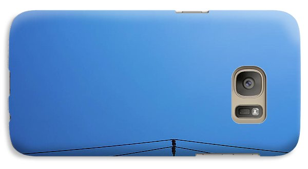 Galaxy Case featuring the photograph High Voltage Power, Electric Pose by Jingjits Photography