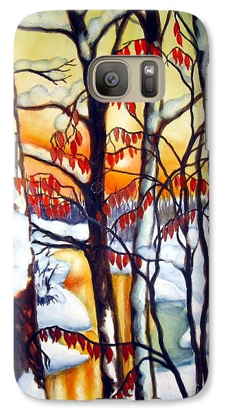 Galaxy Case featuring the painting Highland Creek Sunset 1 by Inese Poga