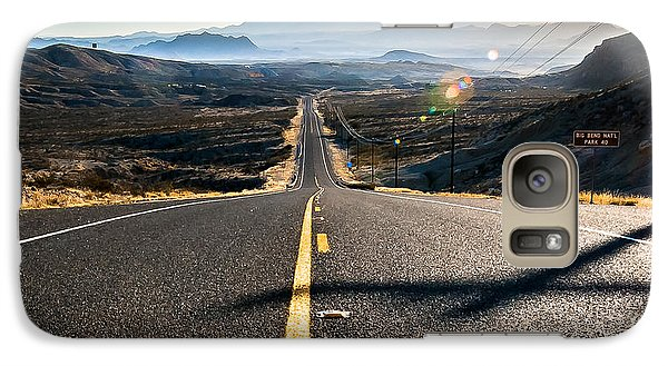 Galaxy Case featuring the photograph Highway 170 To Big Bend by Allen Biedrzycki