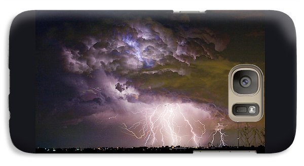 Highway 52 Storm Cell - Two And Half Minutes Lightning Strikes Galaxy S7 Case