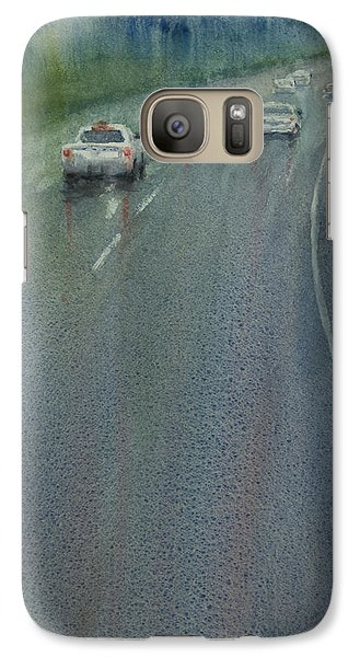 Galaxy Case featuring the painting Highway On The Rain02 by Helal Uddin