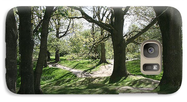 Galaxy Case featuring the photograph Hill 60 Cratered Landscape by Travel Pics
