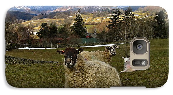 Galaxy Case featuring the photograph Hill Sheep by RKAB Works