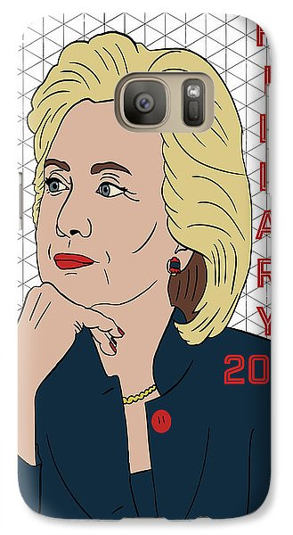 Hillary Clinton 2016 Galaxy S7 Case by Nicole Wilson