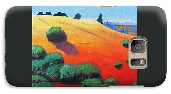 Galaxy Case featuring the painting Hills And Beyond by Gary Coleman