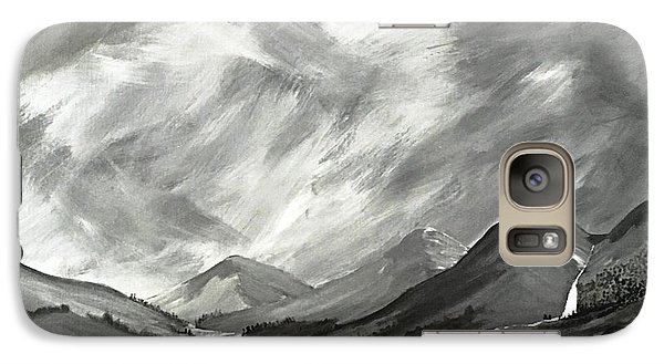 Galaxy Case featuring the painting Hills And Heather  by Scott Wilmot