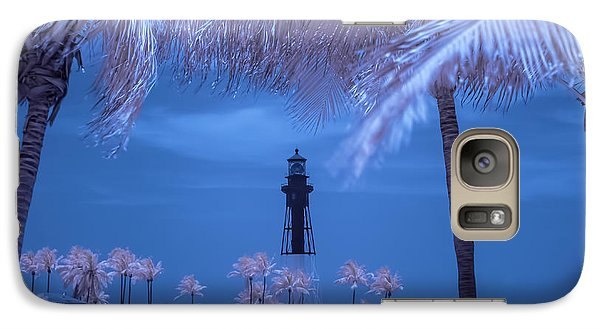 Galaxy Case featuring the photograph Hillsboro Inlet Lighthouse Infrared by Louis Ferreira