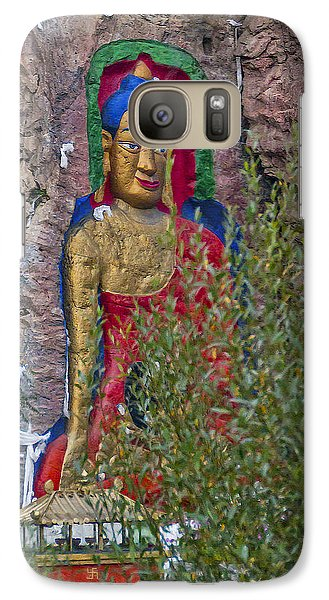Galaxy Case featuring the photograph Hillside Buddha by Alan Toepfer