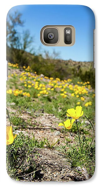 Galaxy Case featuring the photograph Hillside Flowers by Ed Cilley